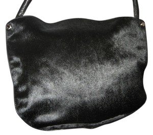 Ellen Tracy Hair Calf Leather Shoulder Bag