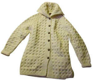 Vintage Irish Handknit Campbell's 'John Jo' Never Worn 100% Wool Hip Length Cardigan