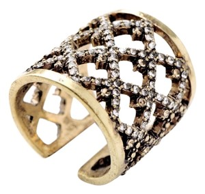 Private Collection Pave Stone X Ring