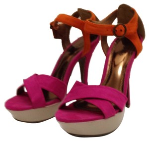 Call It Spring Pink, orange & beige Platforms
