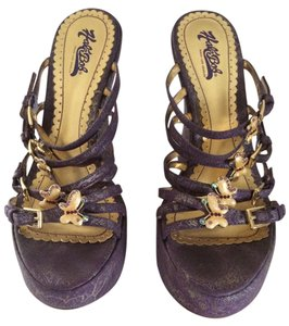 Hale Bob Halo Wedge Purple /Gold Wedges