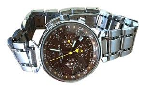 Louis Vuitton Authentic Louis Vuitton Brown Face Chronograph Watch