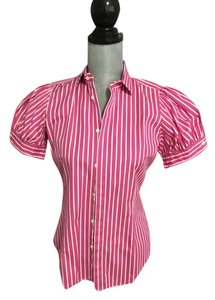 Ralph Lauren Top Pink and white