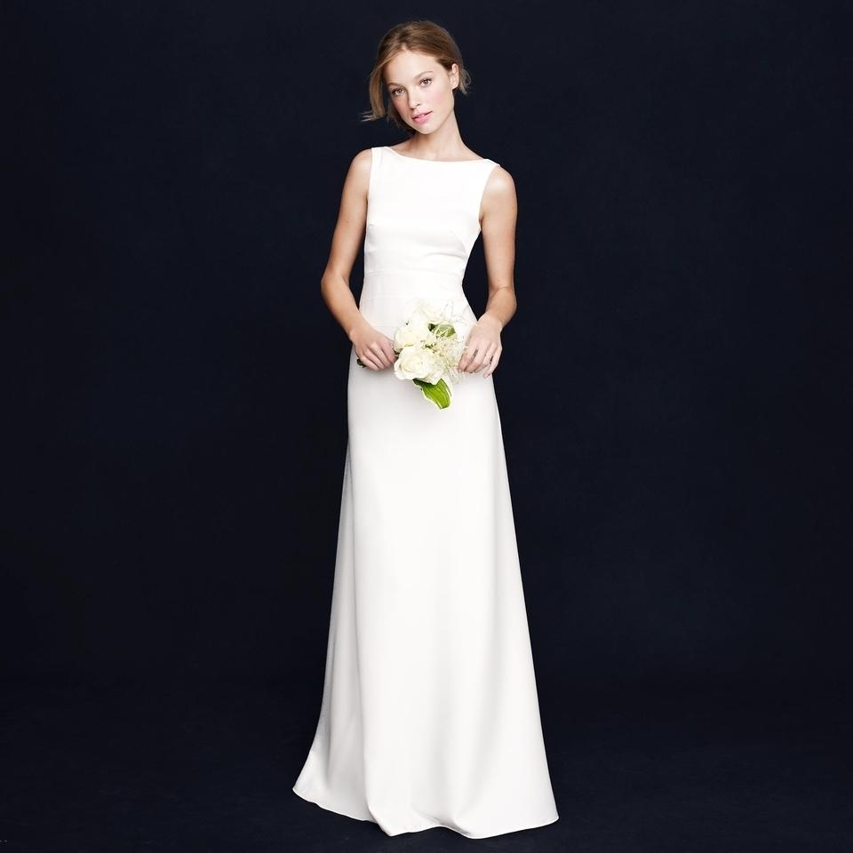 J Crew Ivory Percy Modern Wedding Dress Size 12 L