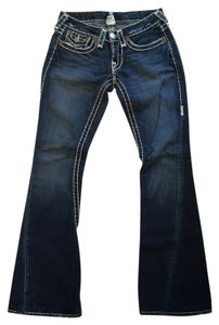 True Religion Fit Flare Leg Jeans-Dark Rinse
