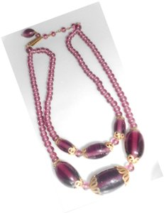 Other Vintage Purple Glass Necklace