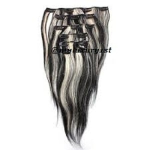 MyLuxury1st Clip In Remy Human Hair Extensions 70g 7 Pieces Bleach Blonde And Darkest Brown Highlights 1b/613