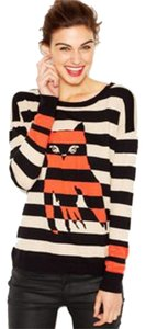 Kensie Cotton/nylon. Hand Wash. Imported. Scoop Neckline. Styles. Long Sleeves. Striped With Contrast Owl Motif At Front. At Sweater