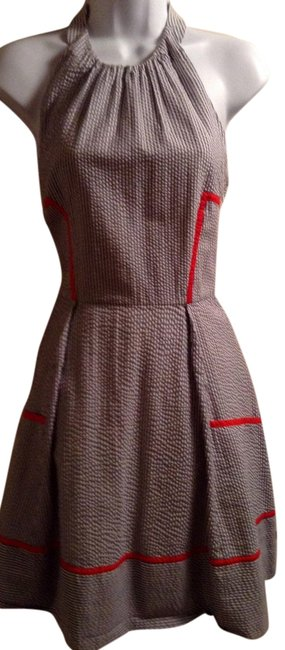 Jessica Simpson Pin Striped Halter Mid-length Short Casual Dress Size 8 (M) Jessica Simpson Pin Striped Halter Mid-length Short Casual Dress Size 8 (M) Image 1