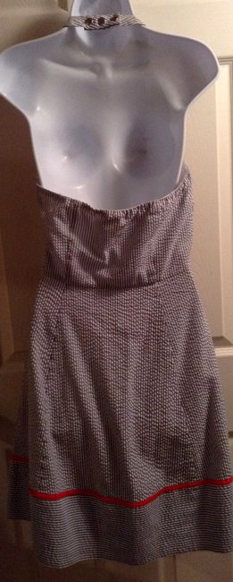 Jessica Simpson Pin Striped Halter Mid-length Short Casual Dress Size 8 (M) Jessica Simpson Pin Striped Halter Mid-length Short Casual Dress Size 8 (M) Image 2