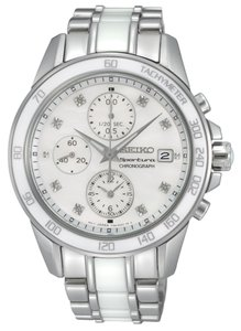 Seiko Seiko Sportura Women's Chronograph Silver Analog Watch