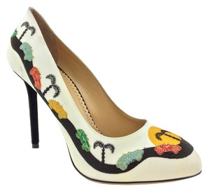 Charlotte Olympia White Pumps