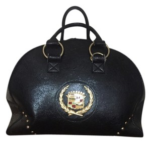 Cadillac Gm Tote Leather Overnight Tote Couture Black Monogram Travel Bag