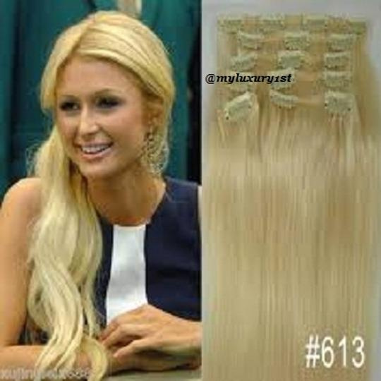 MyLuxury1st Bleach Blonde Clip In Remy Human Extensions 70g 7 Pieces #613 Hair Accessory