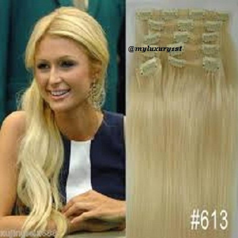Myluxury1st Bleach Blonde Clip In Remy Human Extensions 70g 7 Pieces