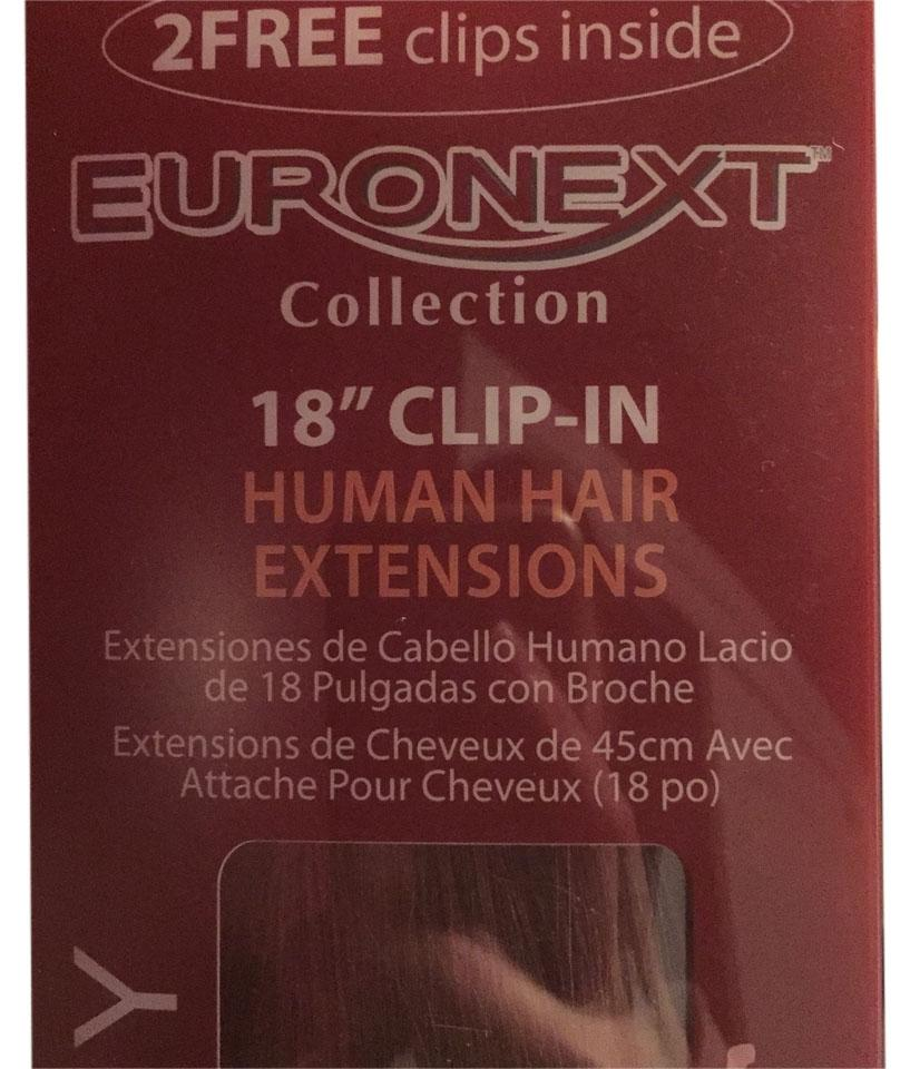 Chestnut Brown Premium Remy Human 18 Inch Clip In Extensions Hair