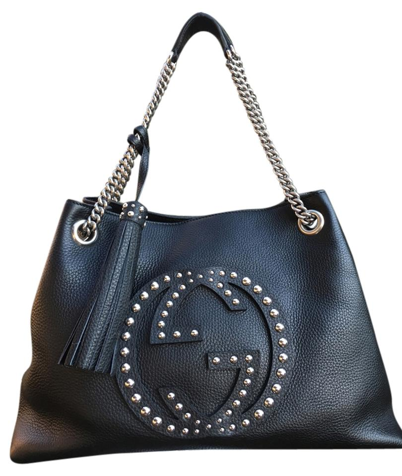 c0cb55c888b9da Gucci Soho Chain-strap Studded Leather Black Hobo Bag - Tradesy