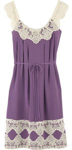 Milly Lavender Silk Lace Dress