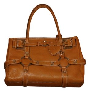 Luella Leather Satchel in Brown / Camel