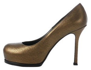 Saint Laurent Ys.j1023.13 Bronze Tribtoo Metallic Ysl Pumps