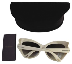 Tom Ford New Tom Ford Cat Eye Cream Sunglasses