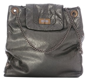 Chanel Ch.h0908.15 Pewter Perforated Shoulder Bag
