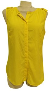 Michael Kors Designer Button Up Top yellow