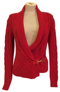 Ralph Lauren Sweater Gold Buckle Cardigan