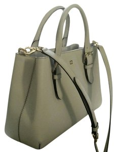 Kate Spade Saffiano Leather Satchel in light smoke/light gold
