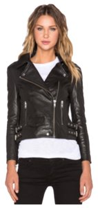 Oakley Black with silver hardware Leather Jacket
