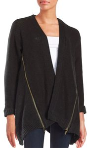 Sam Edelman Textured Open Zipper Cardigan