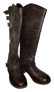Madden Girl Riding Distressed Brown Boots