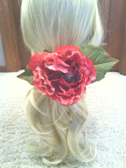 Other Pink Peony Flower Ponytail Holder