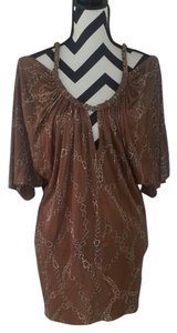 Sky short dress Brown Chain Open Leather on Tradesy