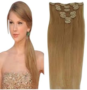 MyLuxury1st Clip In Remy Human Hair Extensions 70g 7 Pieces Strawberry Blonde