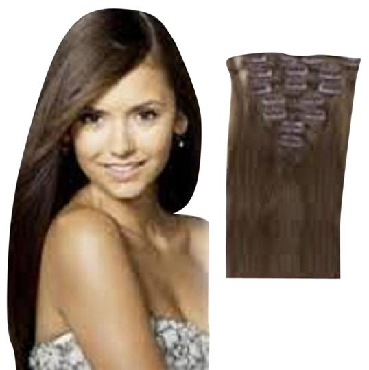 MyLuxury1st Clip In Remy Human Hair Extensions 70g 7 Pieces Chestnut Brown