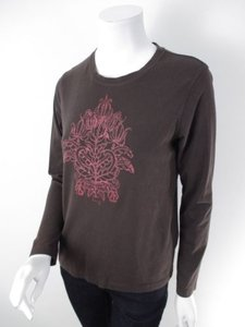 Other Lucy Activewear Lucytech Brown Pink Graphic Long Sleeve Yoga Shirt Top