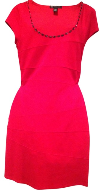 INC International Concepts short dress Red Jewel Stones on Tradesy