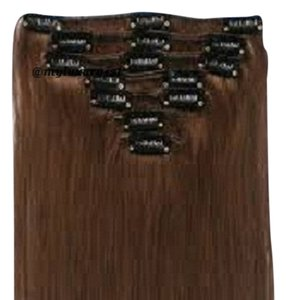 MyLuxury1st Clip In Remy Human Hair Extensions 70g 7 Pieces Ash Brown