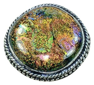 New Dichroic Glass Ring Size 9 New 925 Silver J1672
