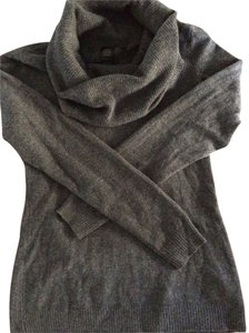 Saks Fifth Avenue 100% Cashmere Gray Cashmere Cowl Neck Cashmere Cowl Gray Sweater