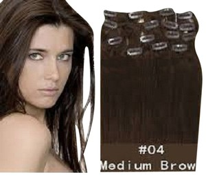 MyLuxury1st Clip In Remy Human Hair Extensions 70g 7 Pieces Medium Brown