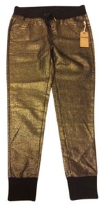 True Religion Gold Skinny Pants Gold Indigo
