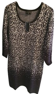 Attention Sweater Sparkle Leopard Animal Print Dress