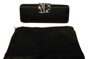 Orly Convertible Crystal Accented Black Clutch
