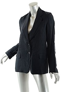 Nili Lotan Linen Jacket Unlined Black Blazer
