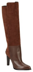 """Tod's Stacked Heel 3.75"""" (95mm) Shaft Sigaro Boots"""
