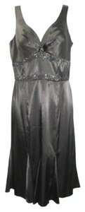 Other Sleeveless Embellished Satin Evening Dress