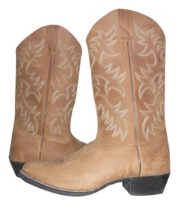 Ariat Boot Western Brushrider DISTRESSED MED BROWN Boots