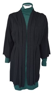Anthropologie Open Wool Angora Drapey Oversized Pleated Boho Hippie Cardigan